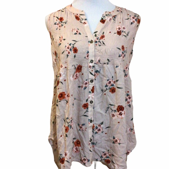 Knox Rose Floral Sleeveless Top NWT